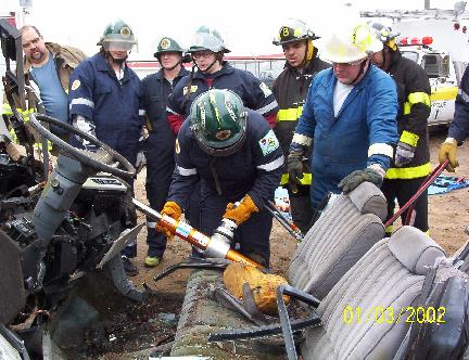 Scot Brooks oversees extrication training exercise